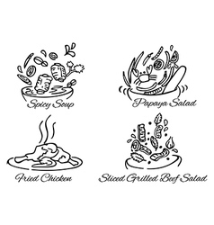 Thai foods380x400 vector