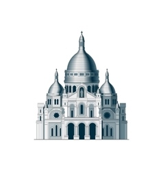 The sacred basilica Sacre Coeur in France - 2 vector