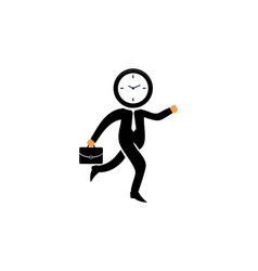 time to work business concept logo vector image