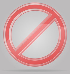 transparent prohibition sign vector image