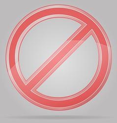 Transparent prohibition sign vector