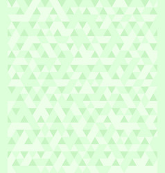 Triangle pattern green seamless background vector