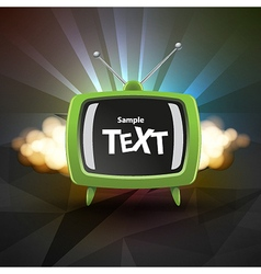 TV box vector image