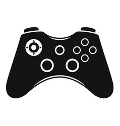 video game controller icon simple style vector image
