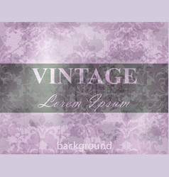 vintage baroque pattern grunge background vector image