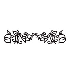 vintage monoline flourish scandinavian monogram vector image