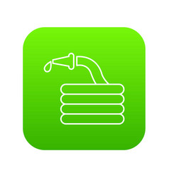 Water hose icon green vector