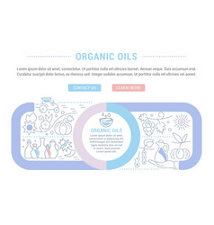website banner and landing page organic oils vector image