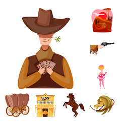 wild and west symbol set vector image