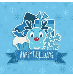 blue christmas decoration vector image