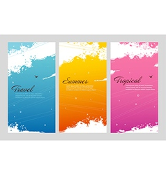 Color summer set with splash vector image vector image