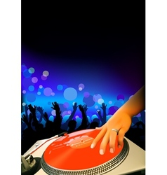 DJ And Audience vector image vector image