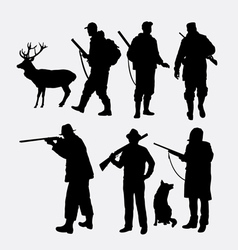 Hunter silhouette vector image
