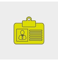 ID card design vector image