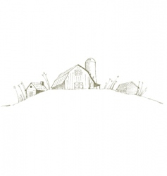 old barn vector image