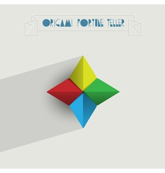 Origami Fortune Teller vector image vector image
