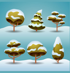 winter trees vector image