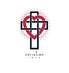 christian love and true belief in god creative vector image vector image