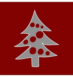 Christmas tree Winter pattern vector image