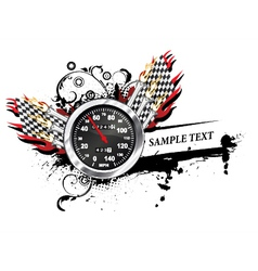 speedometer with grunge vector image