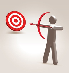 Aim the target vector image
