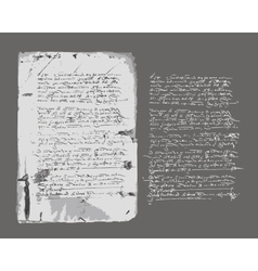 Ancient letter on old grunge paper for your design vector image