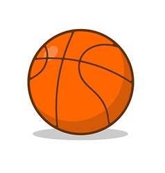 Basketball ball isolated Sports accessory for vector image