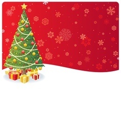 christmas tree background 3 vector image
