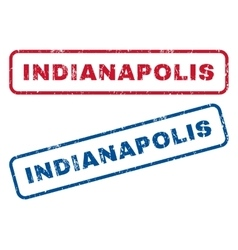 Indianapolis Rubber Stamps vector image vector image