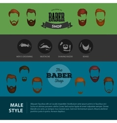 Peoples heirsyle icon collection of beards and vector image vector image