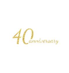 40 anniversary logo concept 40th years birthday vector image