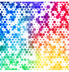 abstract background pattern of colorful circles vector image