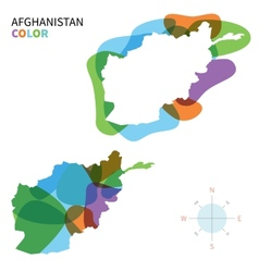 Abstract colored map afghanistan vector
