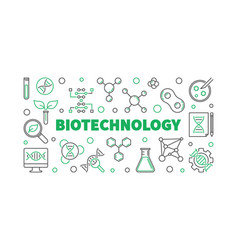 Biotechnolgy concept outline vector
