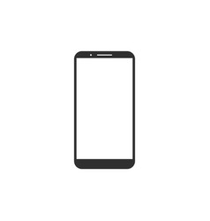 Blank screen black smartphone isolated on white vector