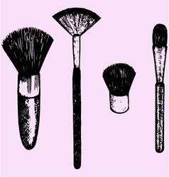 Brush makeup vector