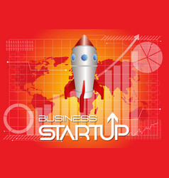 Business startup background vector