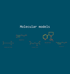 Chemical formulas food and cosmetic vector