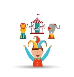 circus juggler isolated icon design vector image