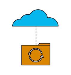 cloud computing folder vector image