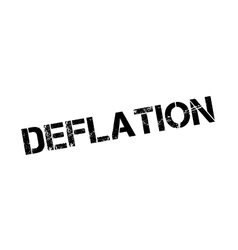 Deflation rubber stamp vector