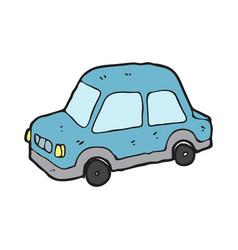 digitally drawn car design hand drawing style vector image