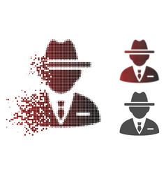 disintegrating pixel halftone agent icon vector image