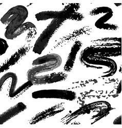 dry brush twirl pattern black on white vector image
