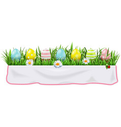 easter concept with tablecloth vector image