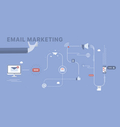 Email marketing background vector