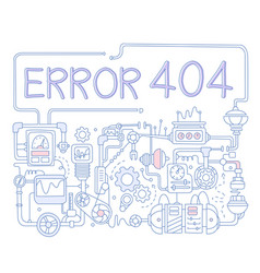 Error infographics vector
