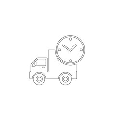 Fast shipping delivery truck lorry and timer fast vector