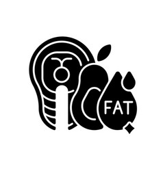 Fats black glyph icon vector