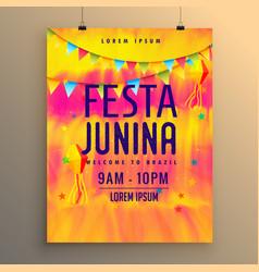 Festa junina flyer design invitation template vector